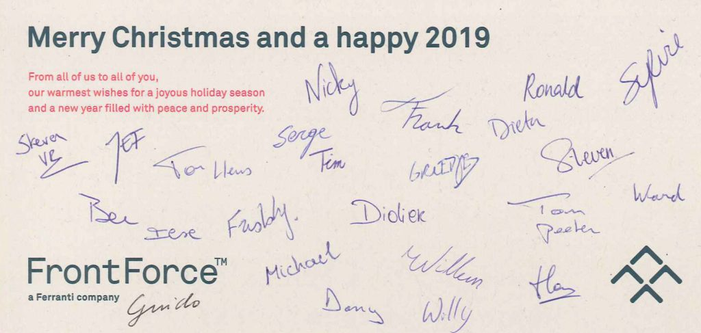 FrontForce Holiday Card 2018 Gesigneerd